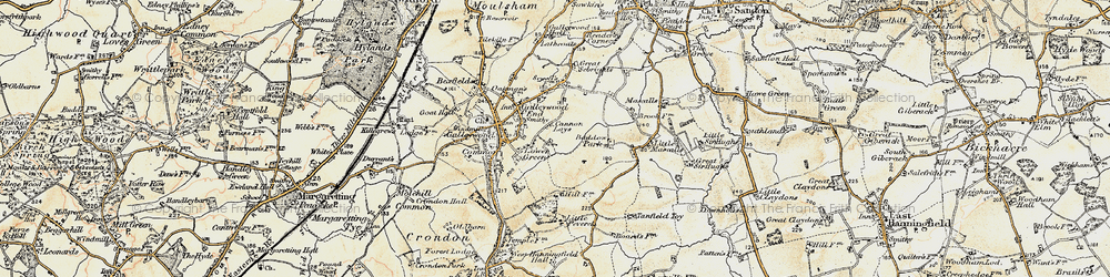 Old map of Galleywood in 1898