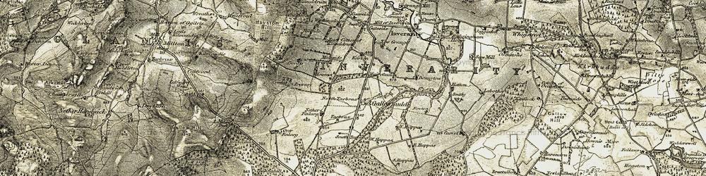 Old map of West Tarbrax in 1907-1908