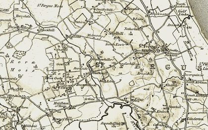 Old map of Artlaw in 1909-1910