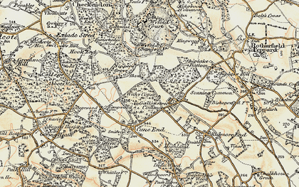 Old map of Wyfold Grange in 1897-1900
