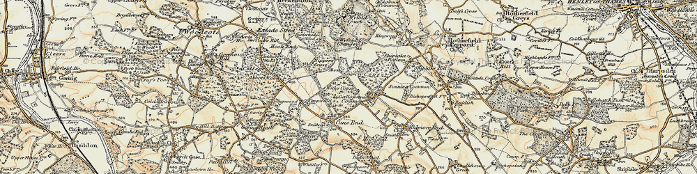 Old map of Withy Copse in 1897-1900