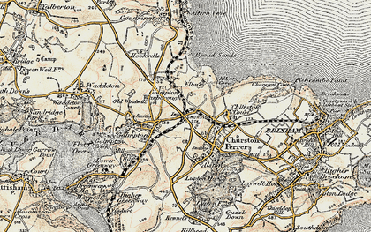 Old map of Galmpton in 1899