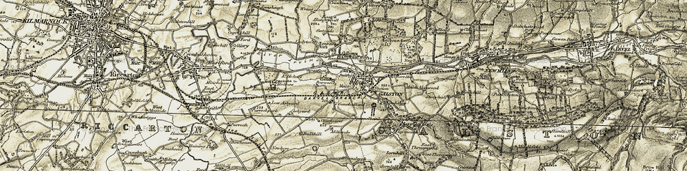 Old map of Galston in 1905