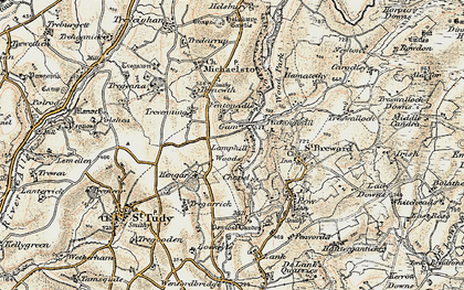 Old map of Gam in 1900