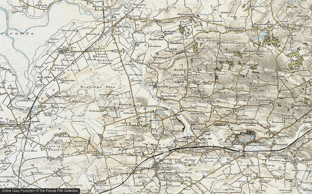 Old Map of Historic Map covering Lawrenceholme in 1901-1904