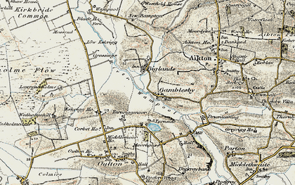 Old map of Lawrenceholme in 1901-1904