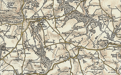 Old map of Gang in 1900