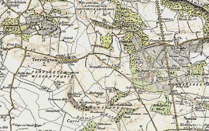 Old map of Thurtle Wood in 1903-1904