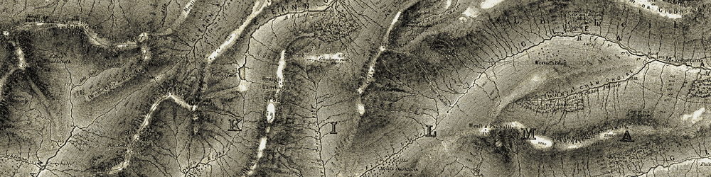 Old map of Allt a' Choire Sgreamhach in 1908