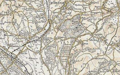 Old map of Babcombe in 1899-1900