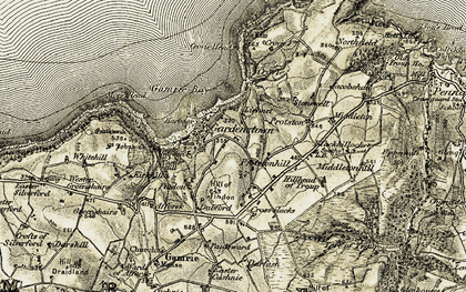 Old map of Lichnet in 1909-1910