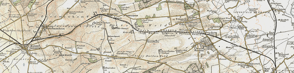 Old map of Westwood Ho in 1903-1908