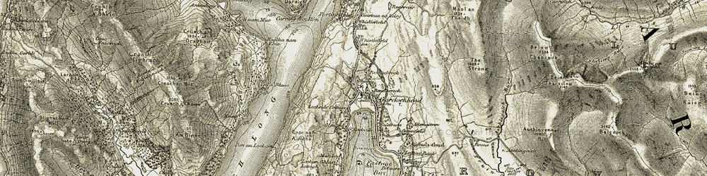 Old map of Garelochhead in 1905-1907