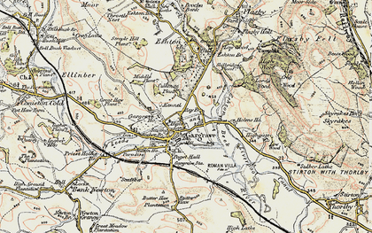 Old map of Gargrave in 1903-1904