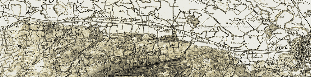 Old map of Woodyett in 1904-1907