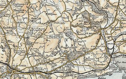 Old map of Garker in 1900