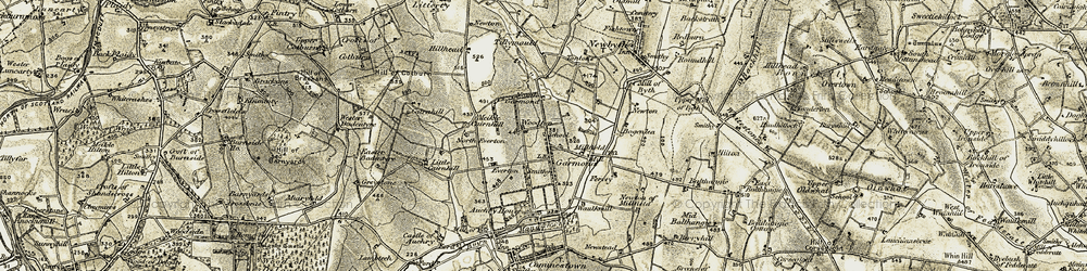Old map of Tillymauld in 1909-1910