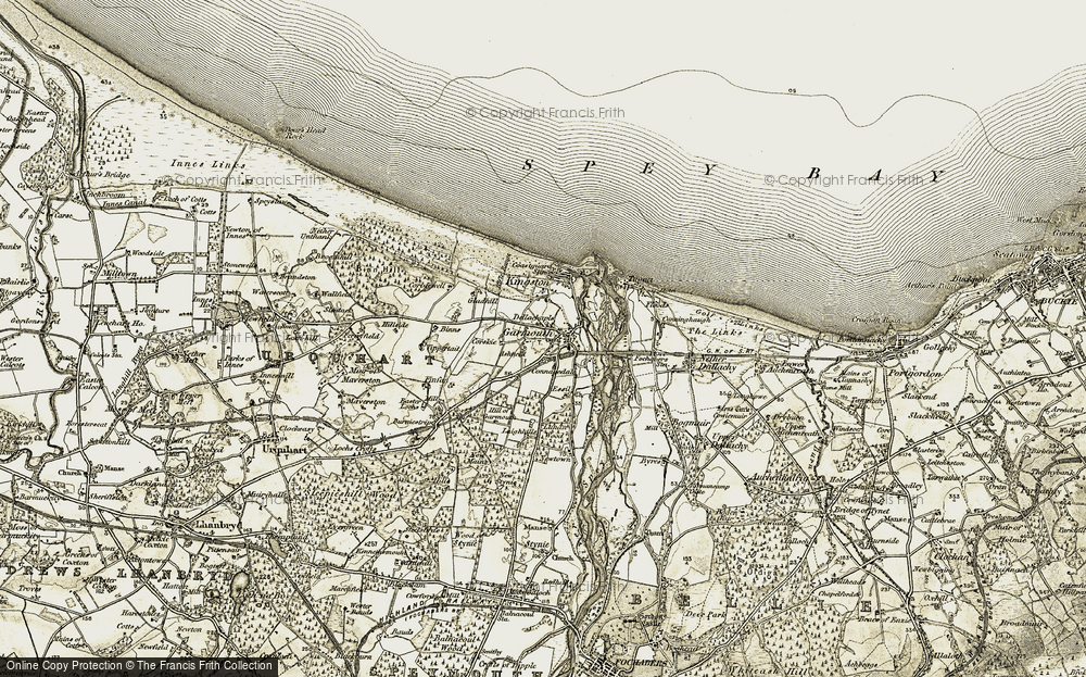 Old Map of Historic Map covering Ashfield in 1910