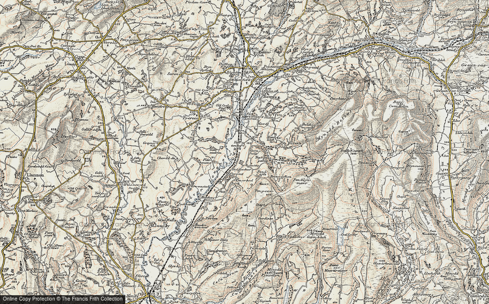 Old Map of Historic Map covering Ynys-ger-gathan in 1900-1901