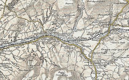 Old map of Garnant in 1900-1901