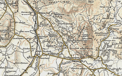 Old map of Garndolbenmaen in 1903