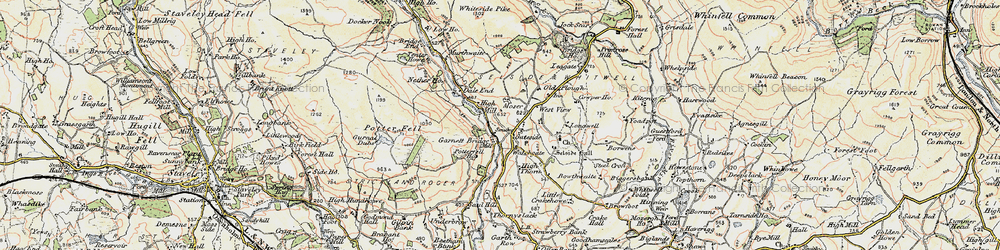 Old map of Whiteside Pike in 1903-1904