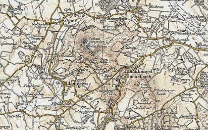 Old map of Tyn Lôn in 1903