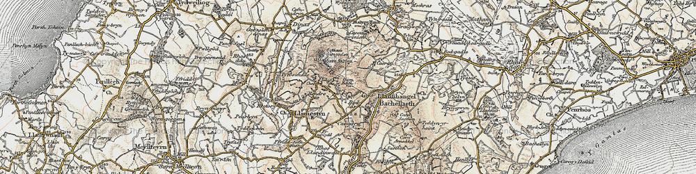 Old map of Tyn Lôn in 1903