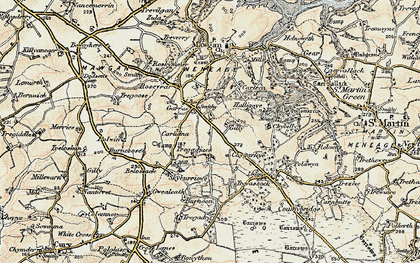 Old map of Garras in 1900