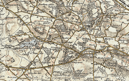 Old map of Ffordd Las in 1902-1903