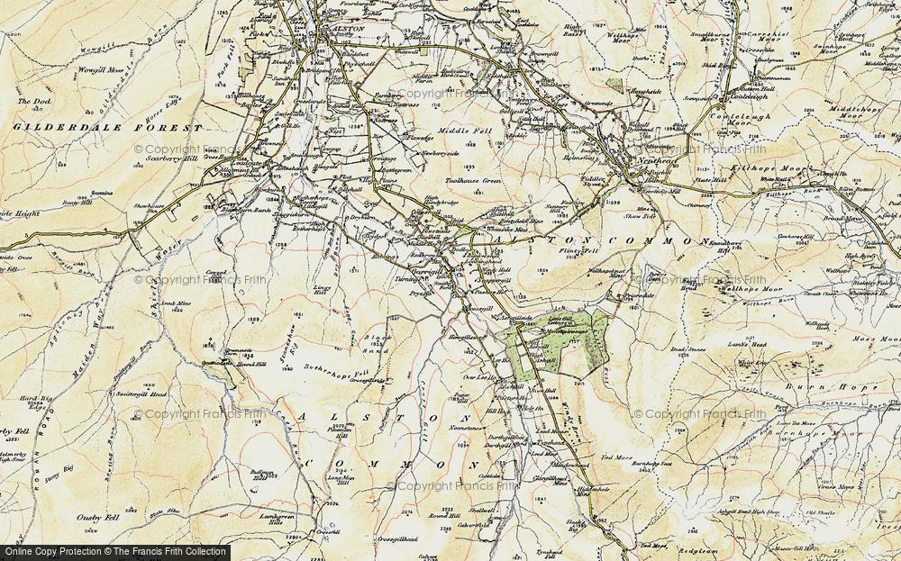 Old Map of Garrigill, 1901-1904 in 1901-1904