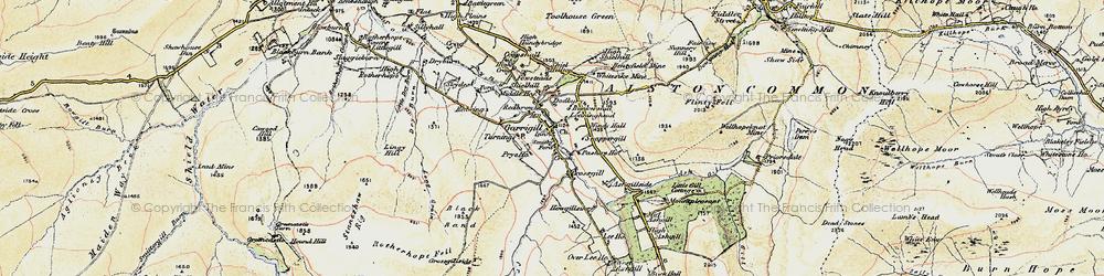 Old map of Garrigill in 1901-1904