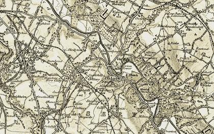 Old map of Garrion Bridge in 1904-1905