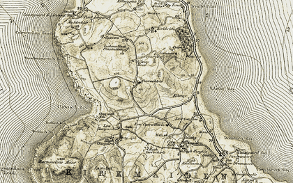Old map of Whitehill in 1905