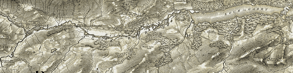 Old map of Allt nan Corp in 1908