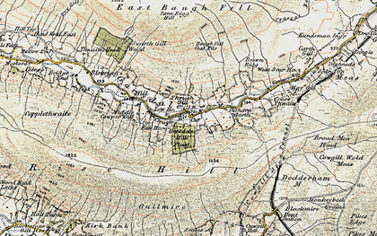 Old map of West Scar Ho in 1903-1904