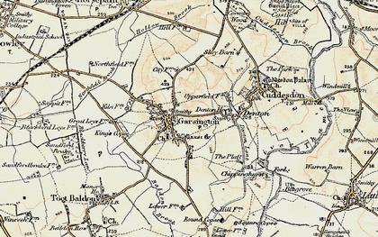 Old map of Garsington in 1897-1899