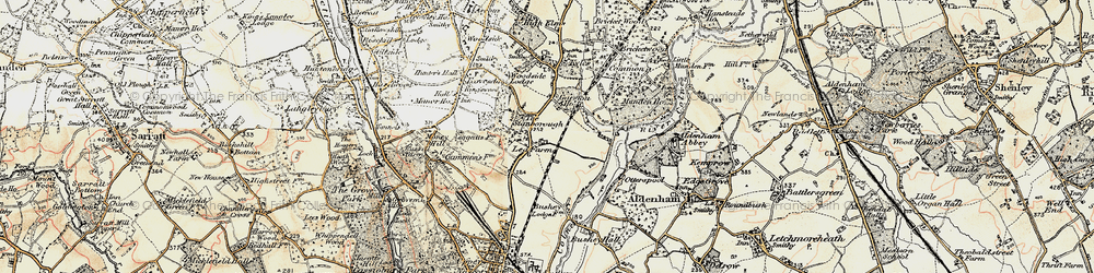 Old map of Garston in 1897-1898