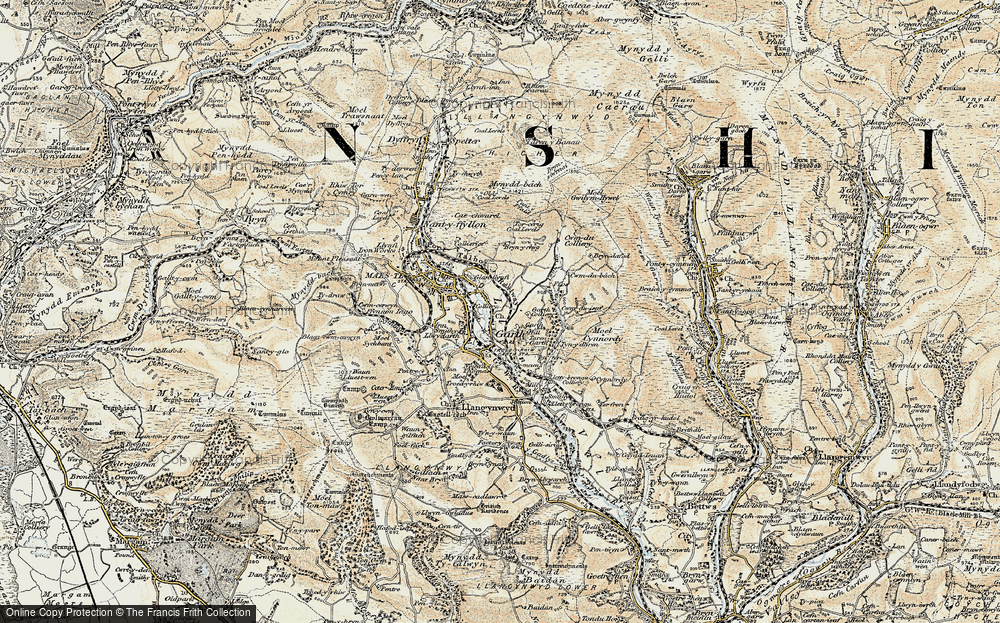 Old Map of Garth, 1900-1901 in 1900-1901