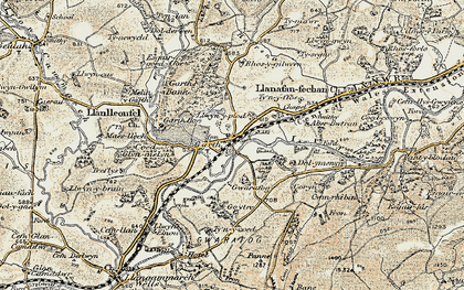 Old map of Banc y Cwm in 1900-1902