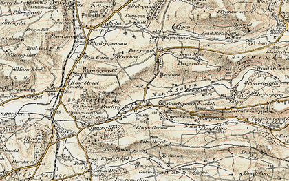 Old map of Afon Stewy in 1901-1903