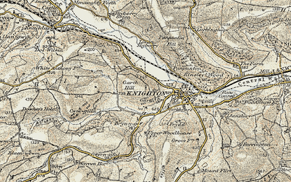 Old map of Garth in 1901-1903