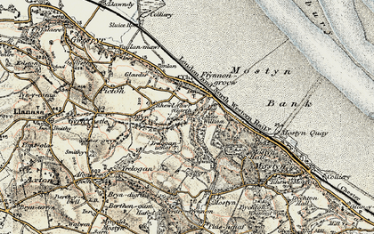 Old map of Garth in 1902-1903