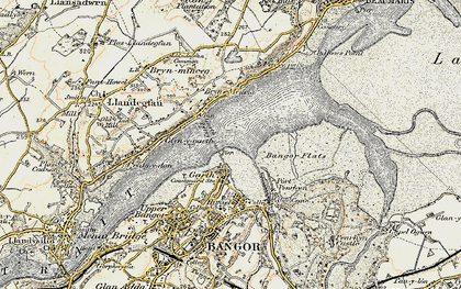 Old map of Bangor Pier in 1903-1910