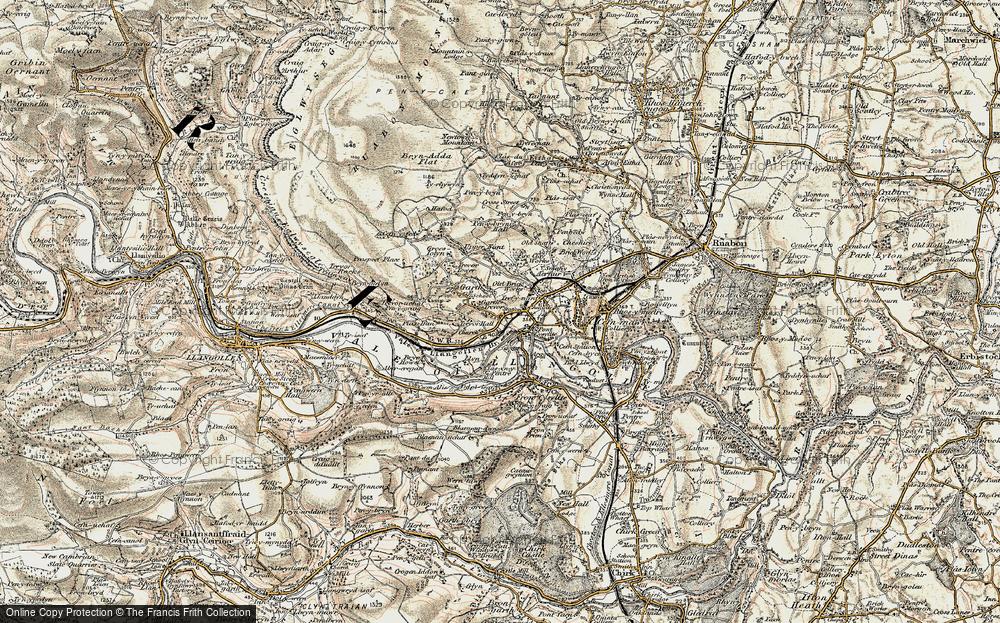 Old Map of Garth Trevor, 1902-1903 in 1902-1903