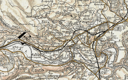 Old map of Garth Trevor in 1902-1903