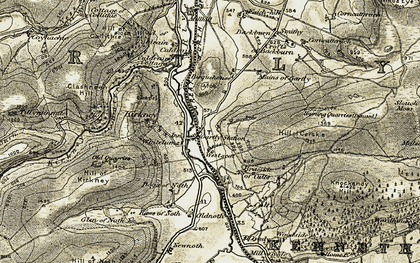 Old map of Westseat in 1908-1910
