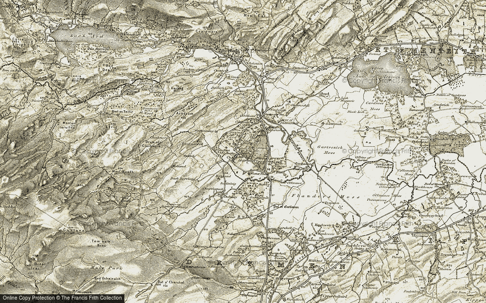 Old Map of Historic Map covering Wester Third in 1904-1907
