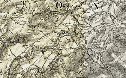 Old map of Lawhead Plantn in 1901-1903