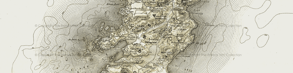 Old map of Leac nan Geadh in 1906-1907